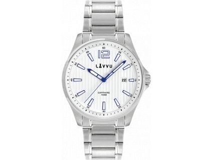 Pánské hodinky se safírovým sklem LAVVU NORDKAPP White