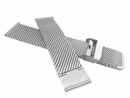 Stříbrný kovový tah LAVVU MESH band original silver - 22