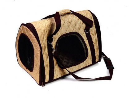 Béžová přepravní taška - 43x25 cm