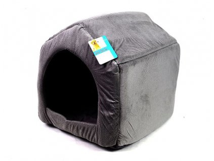 Psí domek šedý - 40x35 cm