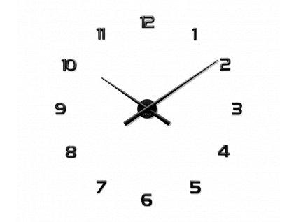 Černé nalepovací hodiny LAVVU 3D STICKER Black Numerals