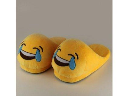 Plyšové pantofle EMOJI (Smích)