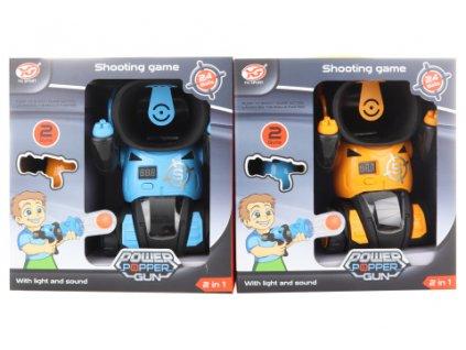 Robot s pistolemi na míčky