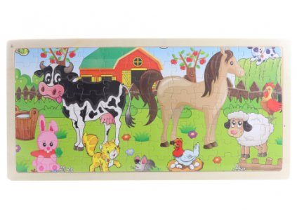 Dřevěné puzzle se zvířátky