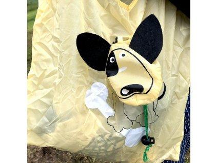 Skládací nákupní taška - pes