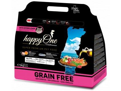 HappyOne Mediterraneum Sterilized Cat - Sardine 3 kg
