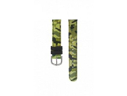 Zelený maskáčový řemínek k dětským hodinkám CLOCKODILE