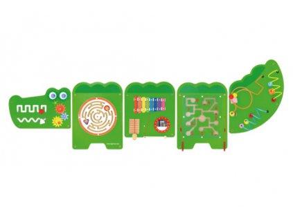 Dřevěná nástěnná hra Krokodýl