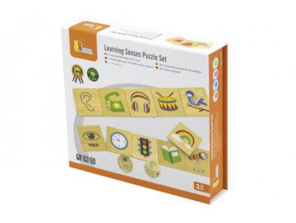 Dřevěné puzzle - smysly