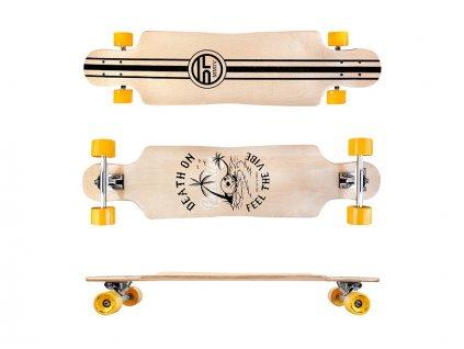 LONGBAY Longboard 94 x 23,5cm ABEC7