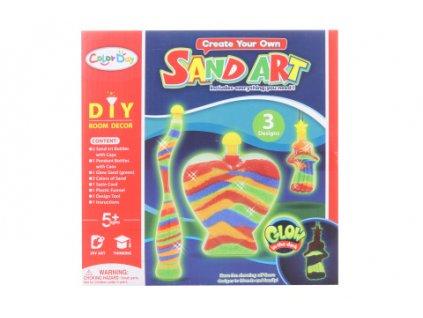 Tvořivost - lahvičky s pískem