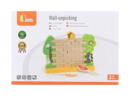Dřevěná hra zeď