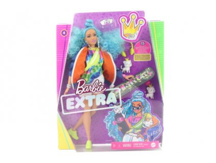 Barbie Extra - s modrým afro účesem GRN30