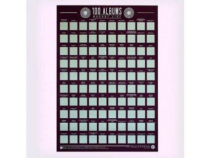 Stírací plakát 100 nejlepších alb - Bucket list