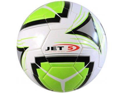 Jet 5 Míč fotbalový kopačák vel.5 zeleno-bílý na kopanou