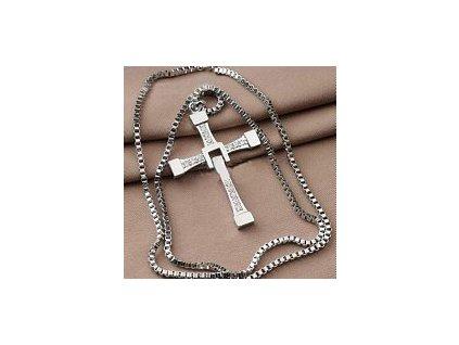 Řetízek na krk s křížem - Dominic Toretto - Rychle a zběsile (Vin Diesel) (Stříbrný)