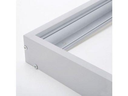 Solight hliníkový stříbrný rám pro instalace 595x595mm LED panelů na stropy a zdi, výška 68mm