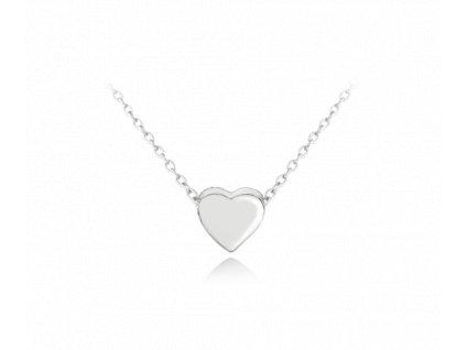 Stříbrný náhrdelník MINET LOVE se srdíčkem
