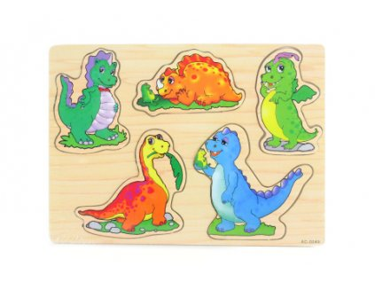 Dřevěná vkládačka dinosauři