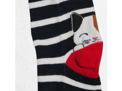 Veselé kočičí ponožky - černé