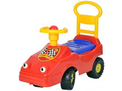 MAD Baby odrážedlo auto červené s klaksonem 54cm odstrkovadlo s očima