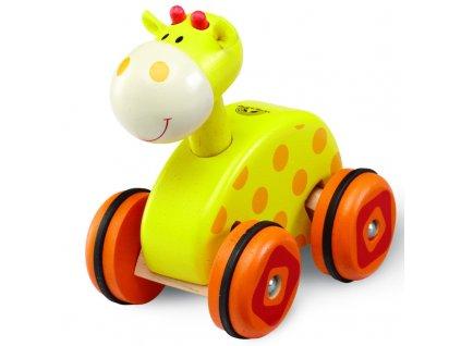 Wonderworld Dřevěná žirafa na kolečkách