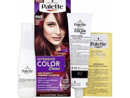 Palette Intensive Color Creme, barva na vlasy, RN5 červenohnědá marsala, 50 ml