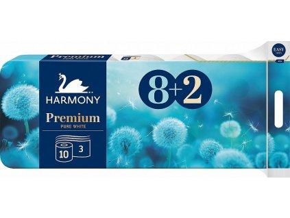 Premium 3vrstvý toaletní papír, role 17,5 m, 8+2 rolí