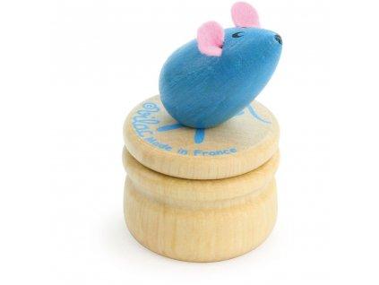 Vilac Dřevěný box na zoubky Myška modrá Vilac Dřevěný box na zoubky Myška modrá