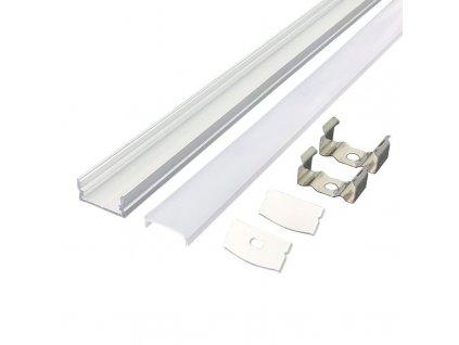 Solight hliníkový profil pro LED pásky 1, 17x8mm, mléčný difuzor, 1m