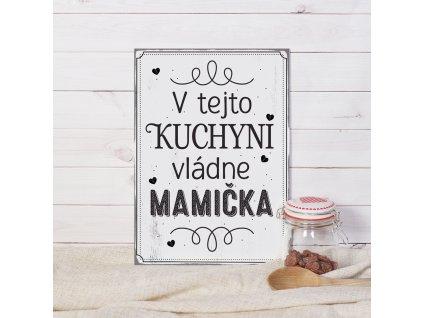 HOUSEDECOR Cedulka - V tejto kuchyni vládne mamička SK