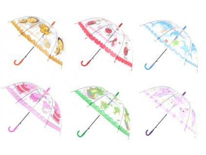 Deštník zvířátka vystřelovací