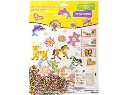 Korálky barevné zažehlovací mozaika Zvířátka set 1000ks v krabici