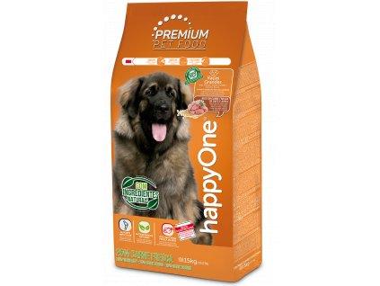 HappyOne Premium Dog Large Breeds - Fresh Meat 15 kg