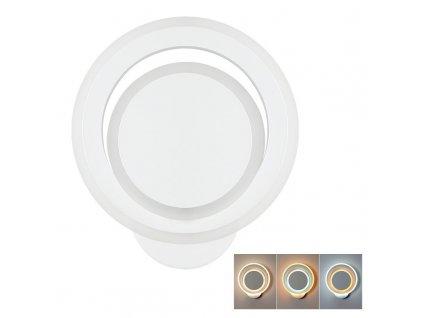 Solight LED přisazené světlo Cascade, malé kulaté, 34W, 1850lm, 2v1