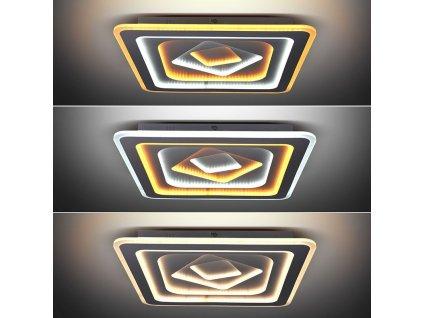 Solight LED stropní světlo Cascade, čtvercové, 130W, 7067lm, dálkové ovládání