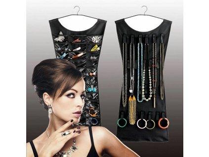 Organizér na šperky - černá barva
