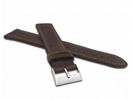 Dvojitě prošitý tmavě hnědý řemínek LAVVU SPORT z luxusní kůže Top Grain - 20