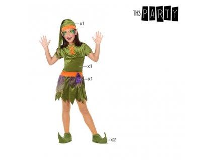Kostým pro děti Skřítek Zelená (5 Pcs) 10–12 roků