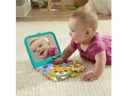 FISHER PRICE Baby zrcadlo sensimals šusticí s kousátkem pro miminko