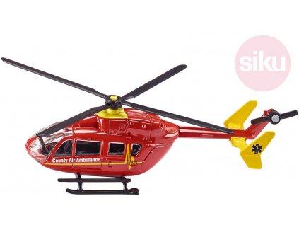 SIKU Vrtulník červený záchranářský ambulance model 1:87 kov 1647