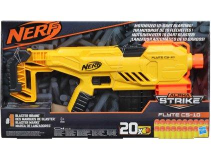 HASBRO NERF Alpha Strike Flyte CS-10 set blaster + 20 šipek na baterie plast