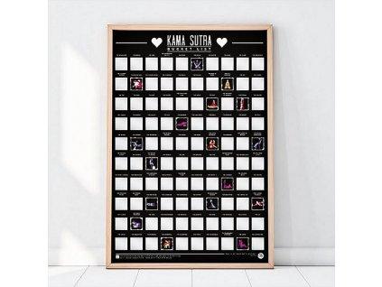 Stírací plakát - 100 nápadů z Kámasútry