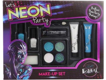 Dětská malovátka make-up neonový s laky na nehty a rtěnkou 2 druhy