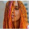 Vlasový příčesek - oranžový