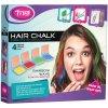 Křídy dětské na vlasy duhové barevné Rainbow set 4ks v krabici