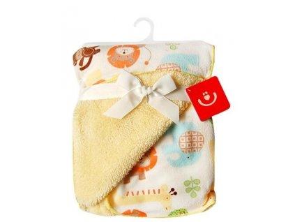 detska deka z mikrovlakna bezova 76x102cm