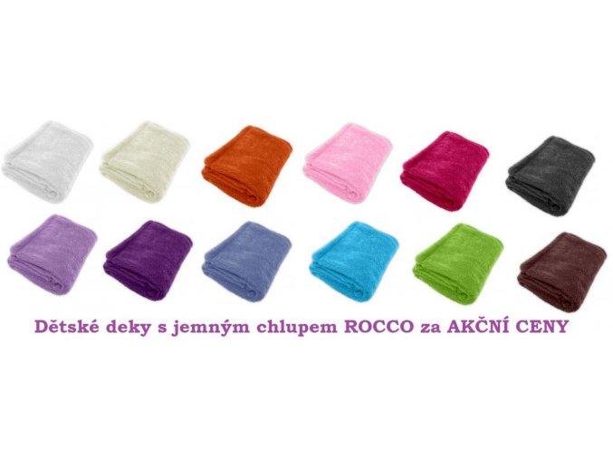 Dětská deka s jemným chlupem ROCCO 100x70cm
