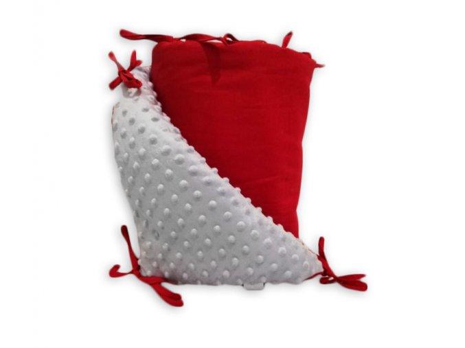 Mantinel oboustranný s MINKY-červená+ VLASTNÍ VÝBĚR BARVY MINKY