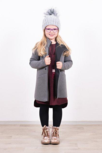 Kabát slim grey (5)